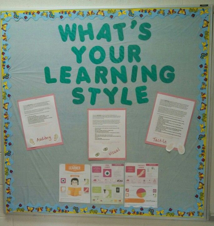 Have the students take a learning style assessment then display tips for each learning style.