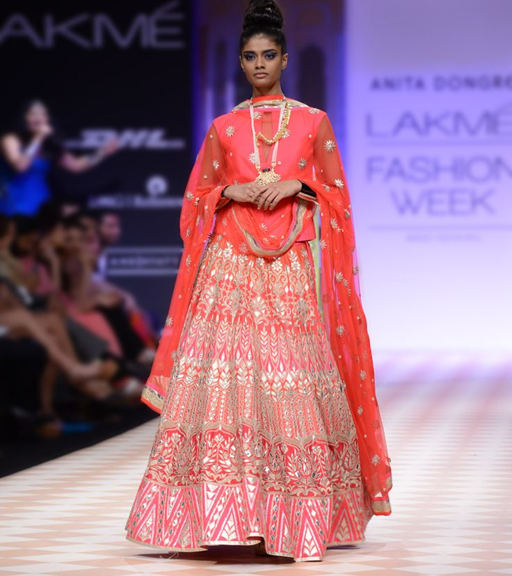 Pink Gotta Patti Embroidered Lehenga Set