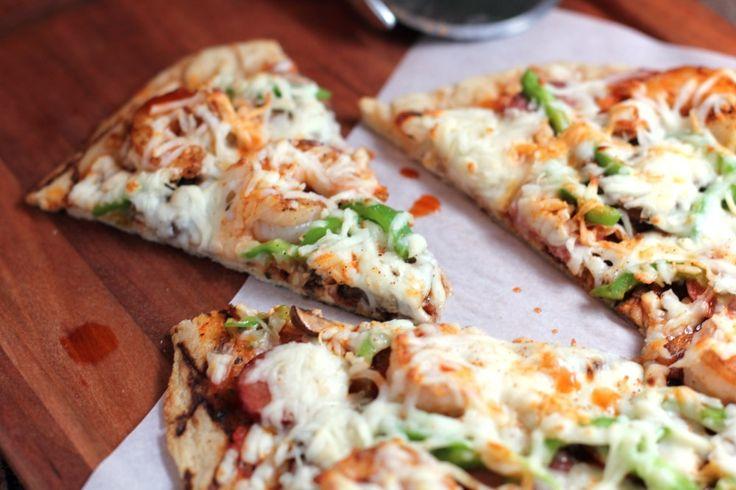 Cajun Pizza with Andouille and Shrimp - Erica's Recipes