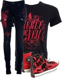 Image result for emo scene clothes