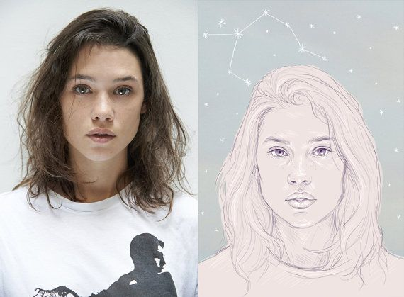ASTRID   Custom portraits by Phaedra Seven... great as a birthday gift idea!    Visit my Etsy page for more info!    Also you can follow me on tumblr and instagram to keep up to date with new illustrations!   phaedra-seven.tum... instagram.com/phaedra__seven #artrid #berges #frisbey #illustration #custom #portrait #sketch #drawing #art #gift #ideas #birthday #horroscope #star #sign #auqarius #scorpio #gemini #aries #virgo #leo #cancer #saggitarius #taurus #capricorn