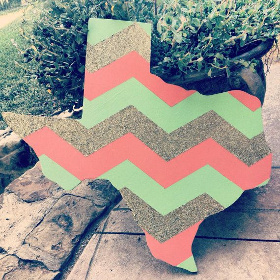 Chevron Texas wall hanging
