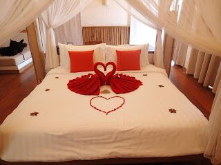 sweet bed for wedding day!