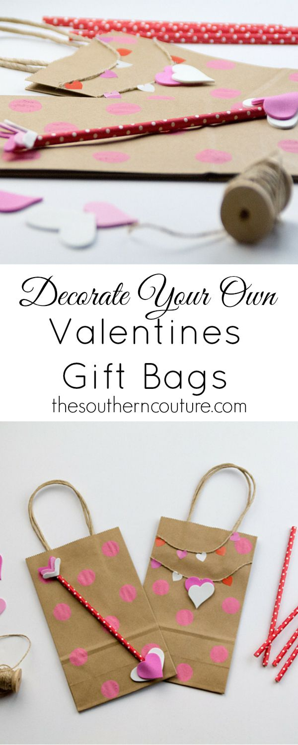 You don't have to spend tons of money on gift wrap. Instead make your own and save that money for the actual gift. Your Valentine will thank you too. Head over to thesoutherncouture.com for some decorating ideas.