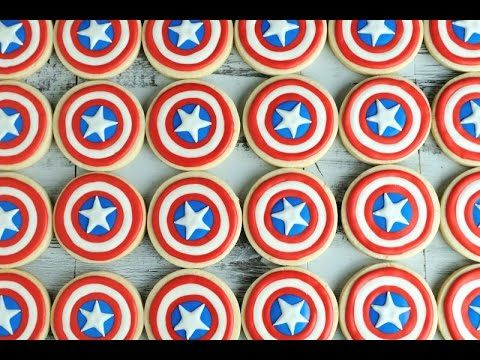 I made Captain America Shield Cookies. In this video I show you super easy way achieving even rounds on cookies when decorating with royal icing. Enjoy. I lo...
