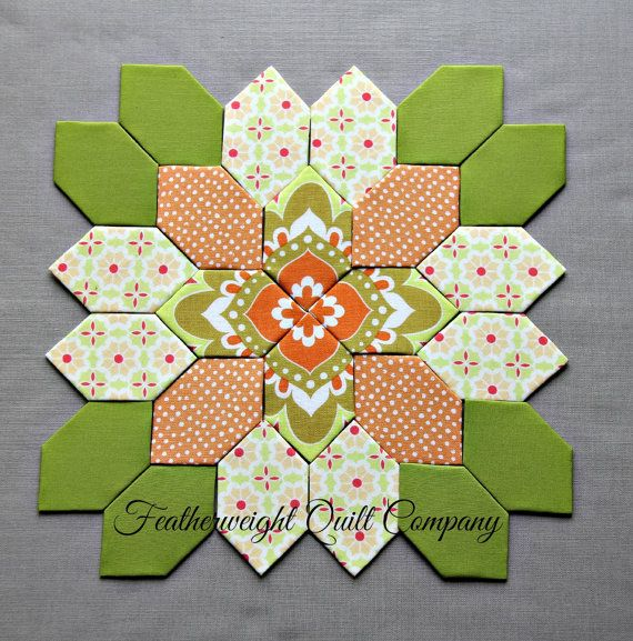 #61 option 3  Lucy Boston Patchwork of the Crosses  kit by FeatherweightQuiltCo