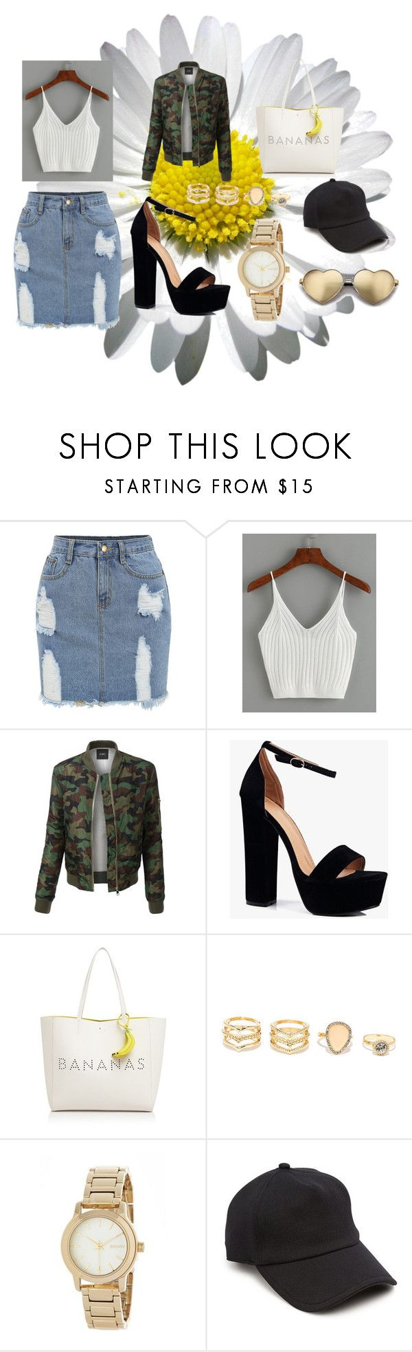 """""""Rihanna inspired look"""" by lineocarol on Polyvore featuring LE3NO, Boohoo, Kate Spade, LULUS, DKNY, rag & bone and Wildfox"""