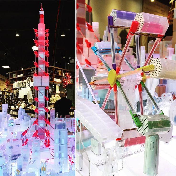 installation of Muji 10000 shapes of Tokyo using Muji products @mujiusa store NYC. #mujitokyo by gentian_o
