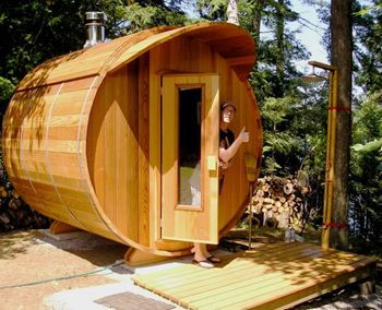 1000 images about leisure living on pinterest entrance for Backyard sauna plans