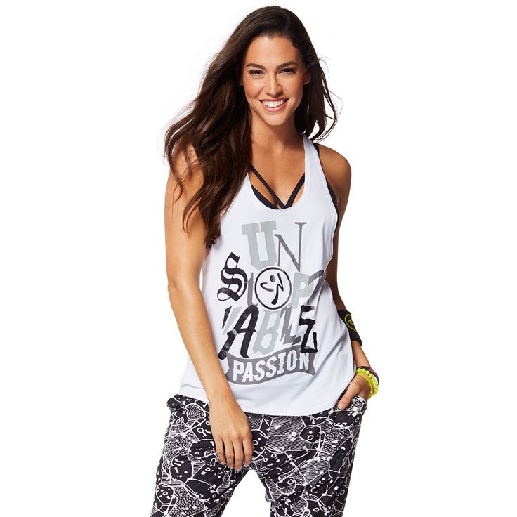 ZUMBA PASSION LOOSE TANK - WEAR IT OUT WHITE -------------- Let your Zumba® love do the talking in the Zumba Passion Loose Tank. With dropped armholes and an oversized fit for extreme comfort, this lightweight tank is a workout must-have.