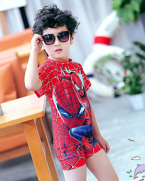 c4228e2d9d Cheap swimsuit kids boy, Buy Quality swimsuit boys directly from China  shirt th Suppliers: 2018 Spiderman Beachwear Sports Bathing Sutis Kids  swimsuit Boys ...