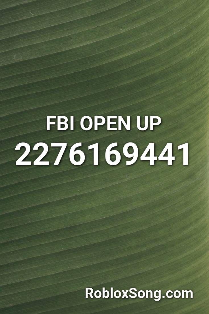 fbi open up roblox id