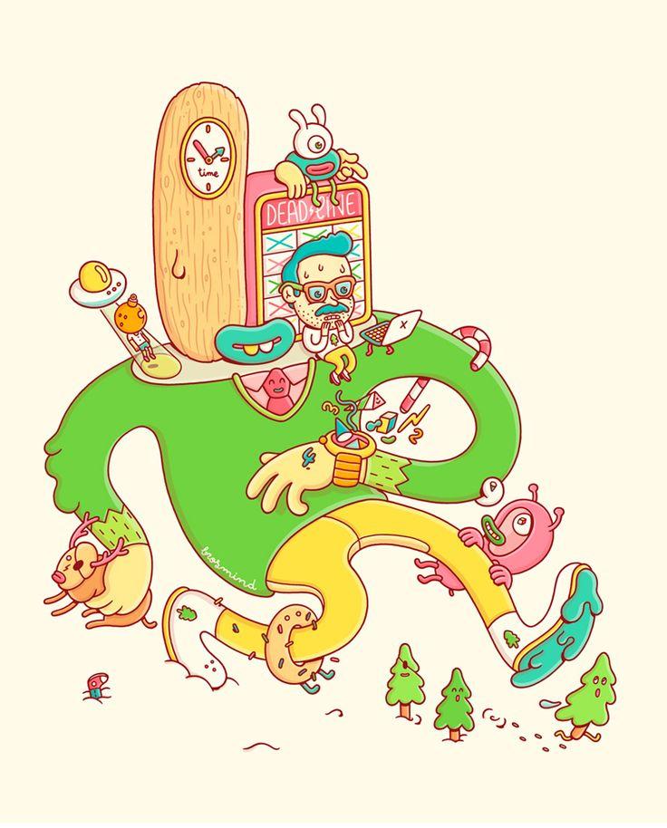 Playful & Colourful Works by Brosmind   Abduzeedo Design Inspiration