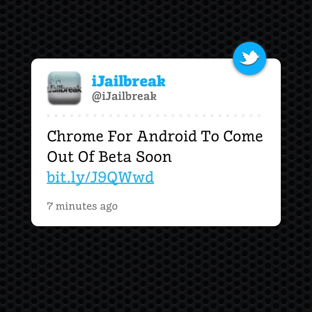 Chrome for Android coming soon