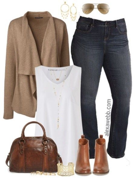 Plus Size Fall Cardigan Outfit - Plus Size Fall Outfits - Plus Size Fashion for Women - alexawebb.com #alexawebb