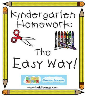 Kindergarten Homework- The Easy Way! | Heidi Songs