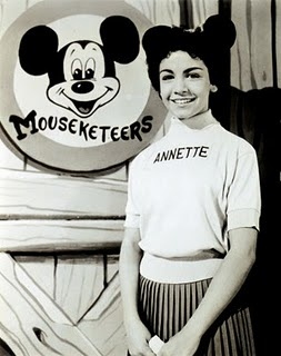 One of the original mouseketeers (long b4 Justin, Britney and Christina) Annette Funicello.