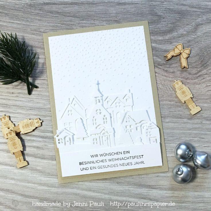 Weihnachten daheim.. Stempel und Stanzen von Stampin'Up!  Mehr Infos auf dem Blog!  ❤️