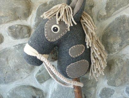 Hobby horse / stick horse - Genuine 'Nobel Steed'  | Felt
