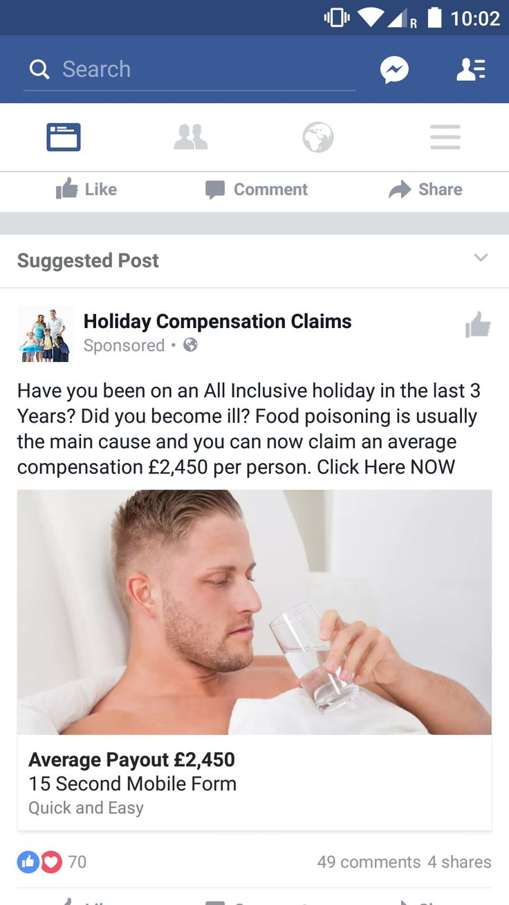 Facebook -  I posted recently I was on holiday