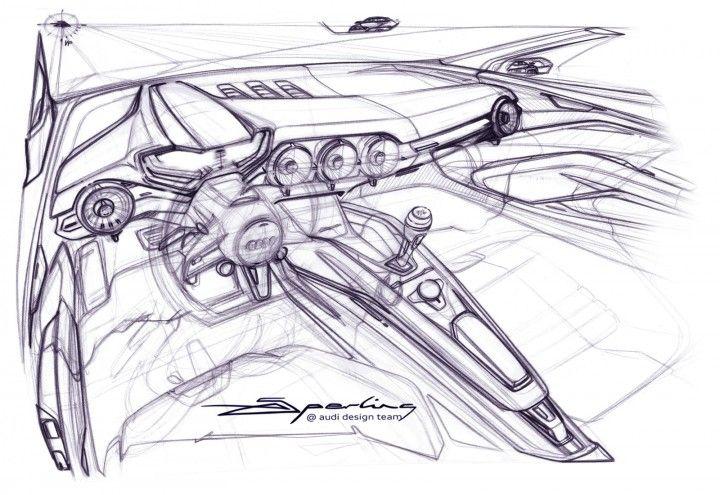 Audi TT 2015 Interior Design Sketch