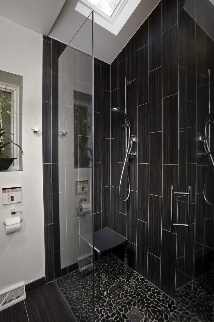 1000 images about black white bathroom on pinterest black white bathrooms bathroom - Bath Shower Tile Design Ideas
