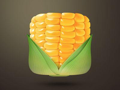 Realistic Icon Corn