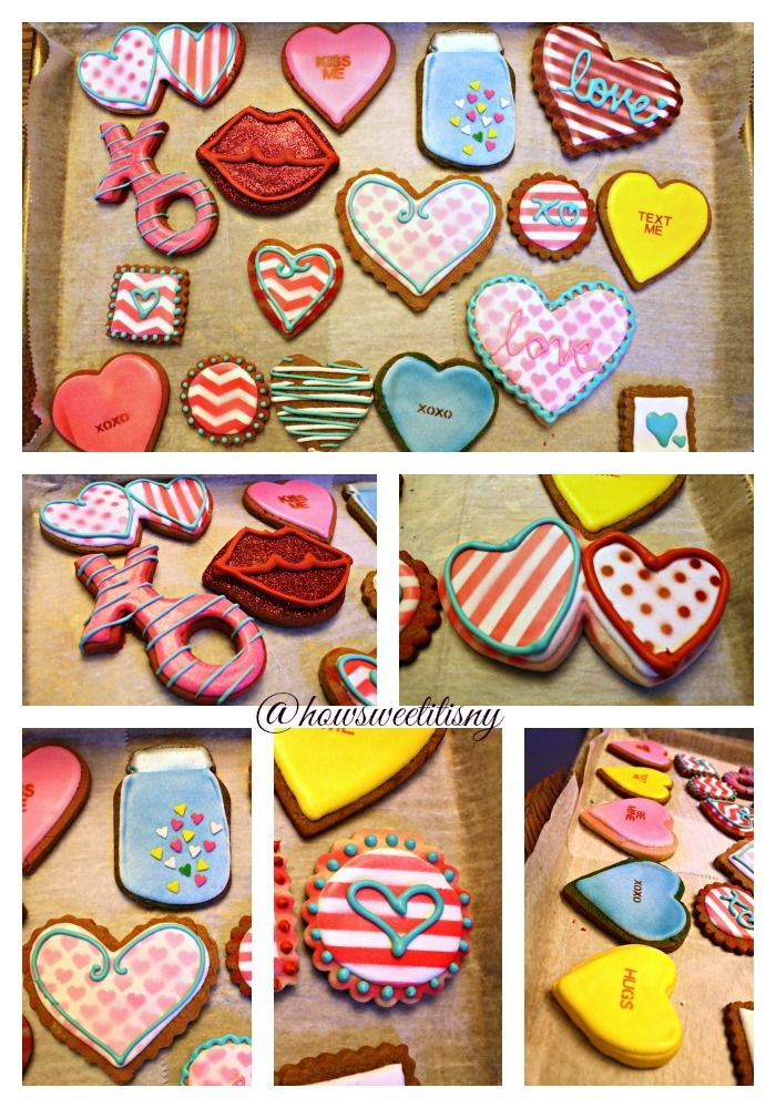 Valentine's Day Cookies by How Sweet It Is NY. Featuring airbrush designs.