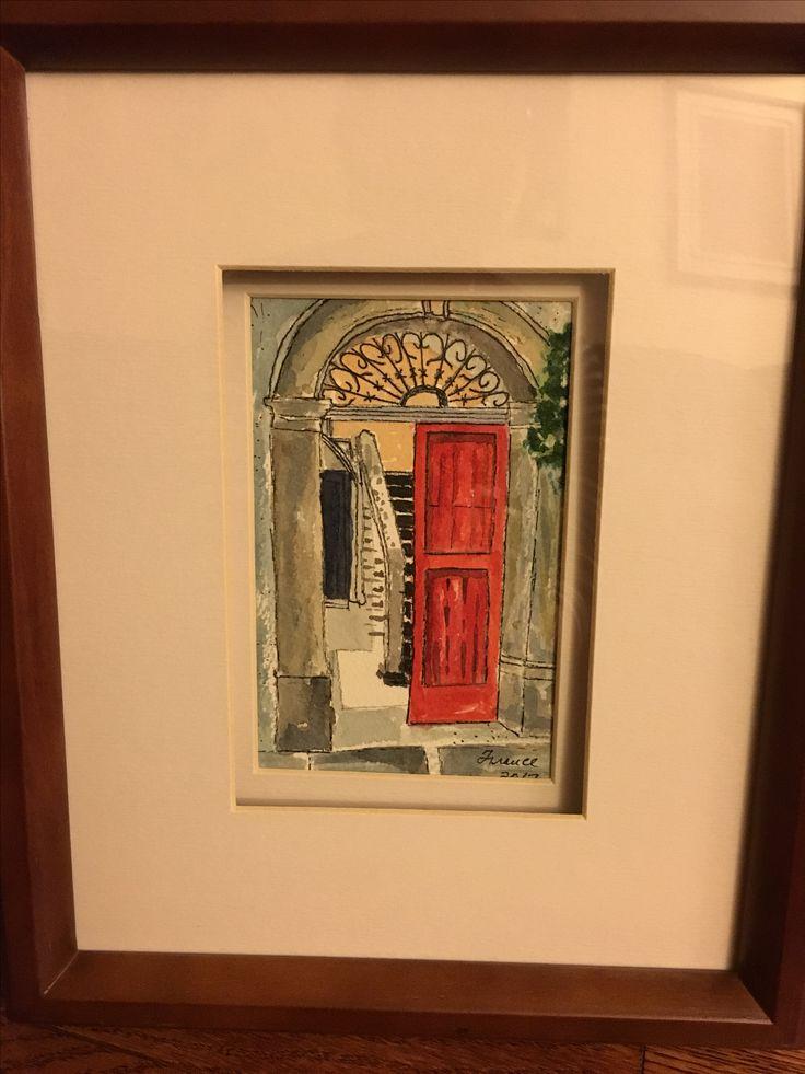 Door #2 watercolor