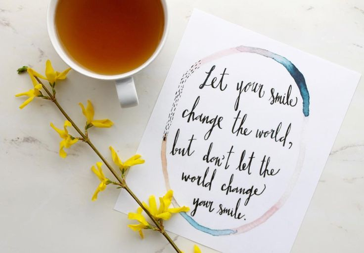 """""""Let your smile change the world, but don't let the world change your smile"""". Remember you're strong and resilient enough to get through the low points! Just keep on smiling... you never know what your smile may do for those who see it! Click to follow our Instagram with even more inspirational quotes.     #feelgoodvibes #motivationalquotes #quotes #mindfulness #keepsmiling #staystrong"""