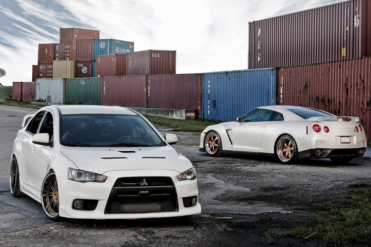 Nissan GTR 20 Inch Gold FS6 and Mitsubishi EVO 10 20 Inch FS20