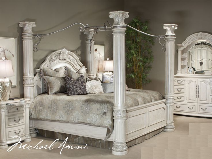 King Size Canopy Bedroom Sets Cal King Pc Canopy