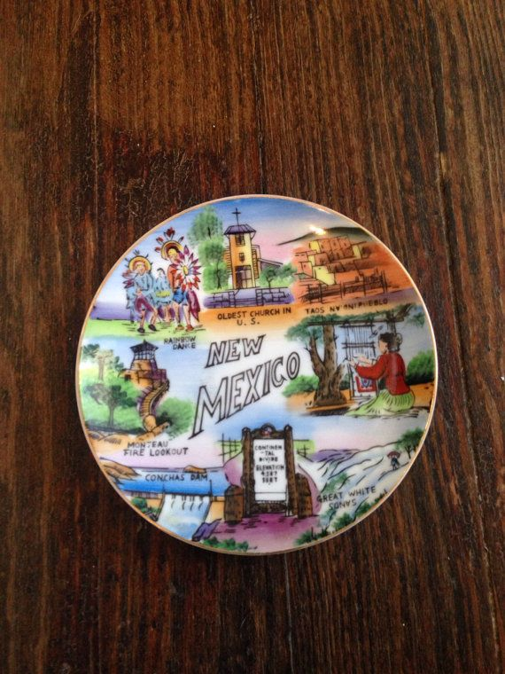 New Mexico Souvenir Plate by MillardsFarmGoods on Etsy