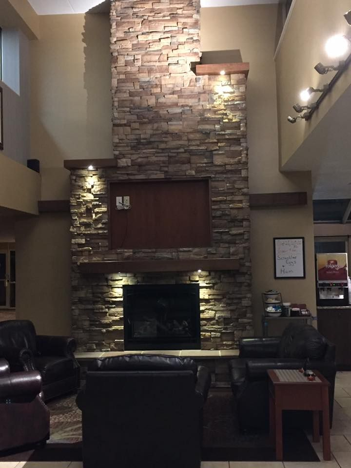 Best Western Electric Fireplace And Stonework Top Hat Install