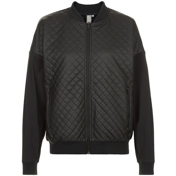 Sweaty Betty Sublime Quilted Jacket ($175) ❤ liked on Polyvore featuring outerwear, jackets, black, quilted jacket, oversized jackets, loose jacket and sweaty betty