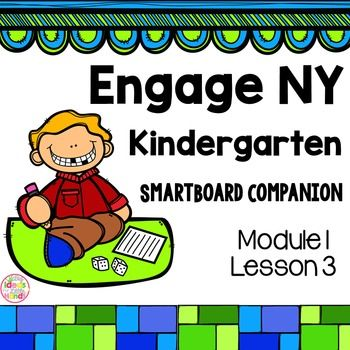 This is a SmartBoard activity that directly correlates with the Kindergarten Engage NY Math Module 1 Lesson 3 (classify to find objects that share a visual pattern, color, and use). This lesson includes activities and games for the lesson.