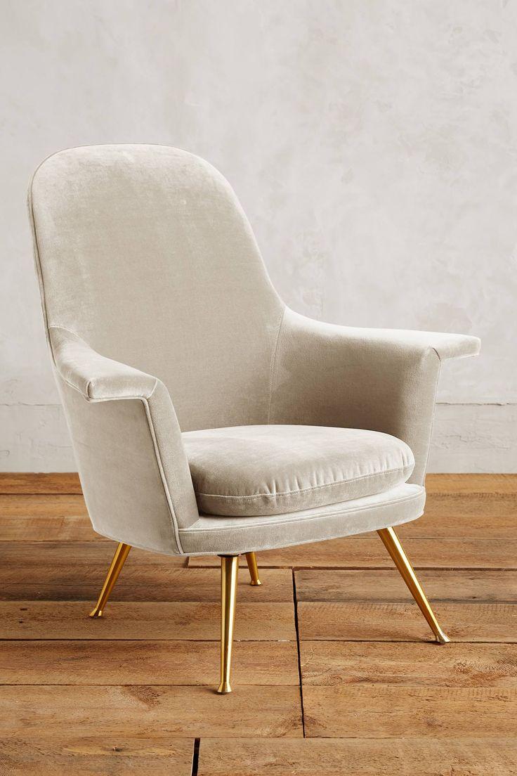 Velvet Kimball Chair   Anthropologie.com