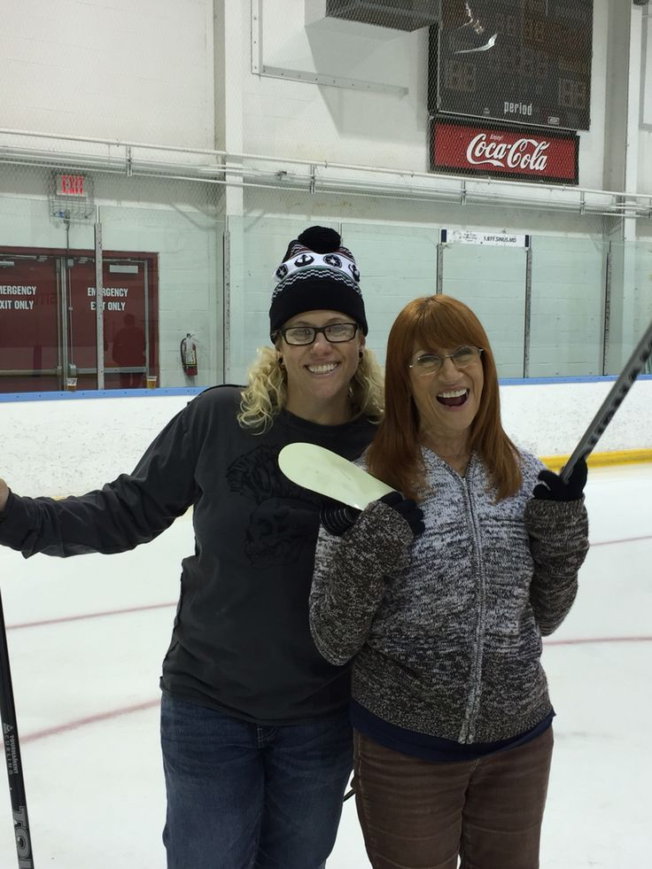 Curling with Joanne and Mom