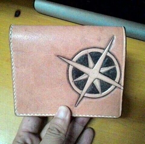Homemade leather wallet