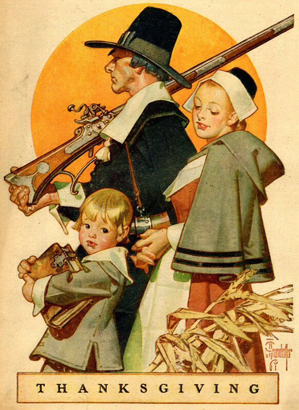 "Thanksgiving. J. C. Leyendecker from ""American Weekly"" magazine, November 19, 1949"