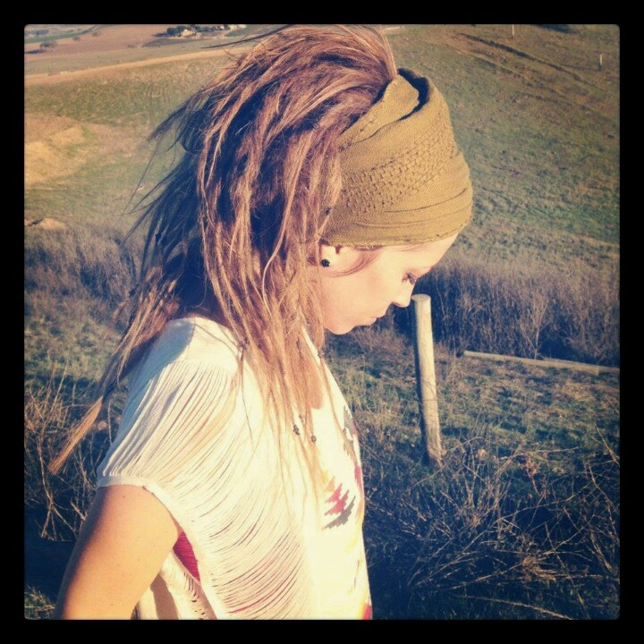 * Jenny Montgomery Willis * sportin' her brand new dreads first day #hippychick