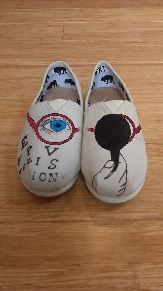 All Printed Optometrist/Ophthalmic  Slip-on (Limited Quantity)