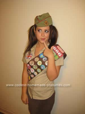 Homemade Adult Girl Scout Halloween Costume: When you have adult braces, there are only a few options that work for Halloween- Dorothy/School Girl/the girl from Scooby Doo/ or a girl scout- I chose