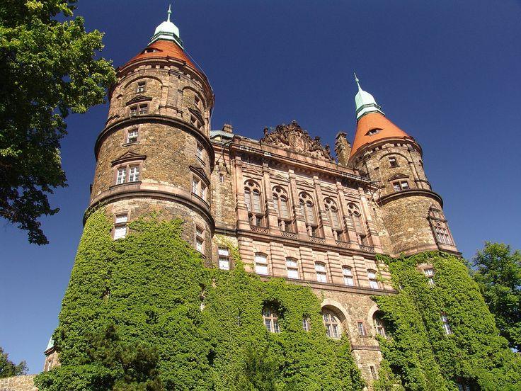 "Zamek Książ - ""Książ (German: Schloss Fürstenstein) is a castle in Silesia, Poland near the town of Wałbrzych. It was built in 1288-1292 under Bolko I the Strict."