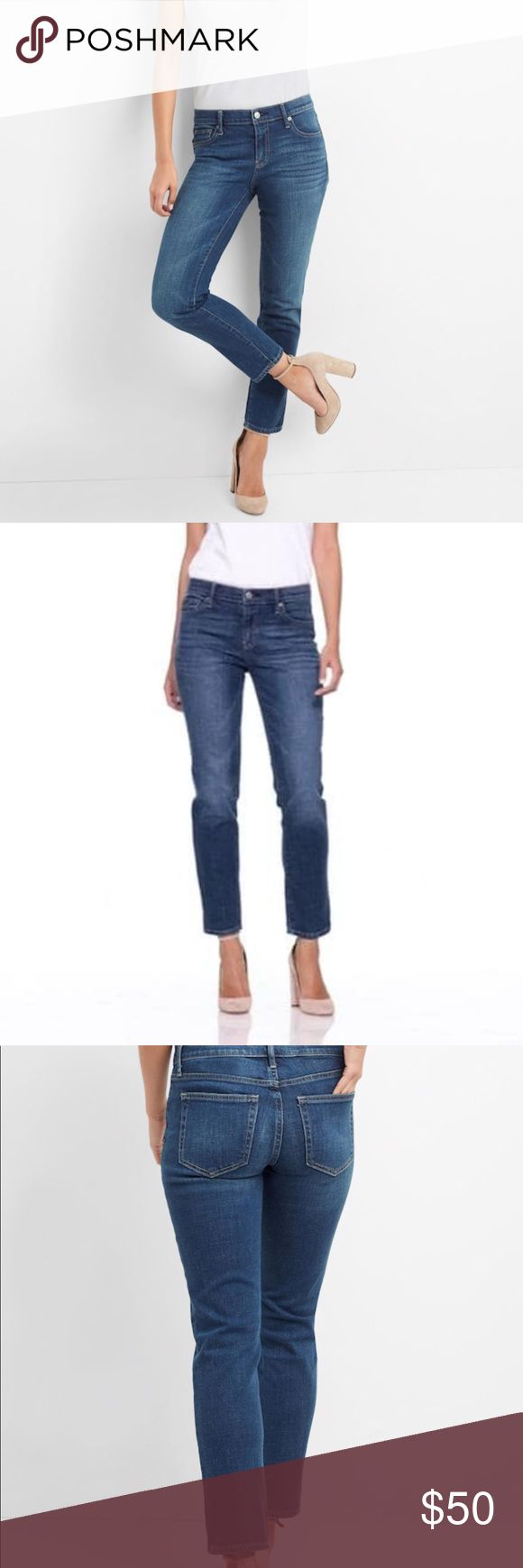 NWT GAP Real Straight Mid Rise Jeans Size 27 NWT GAP Real Straight Mid Rise Jeans Size 27. No flaws, brand new. Slim in the hip & thigh. Straight leg opening. These jeans have a stretch to them. Look fab with heels.  Inseam-27.5 inches Outseam-37.5 inches GAP Jeans Straight Leg