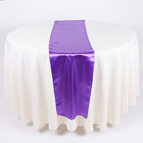 Wedding Supplies - Purple - Satin Table Runners