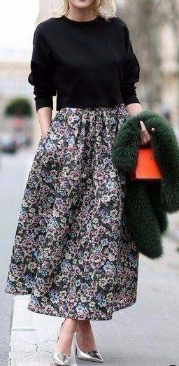Яркие макси-юбки.
