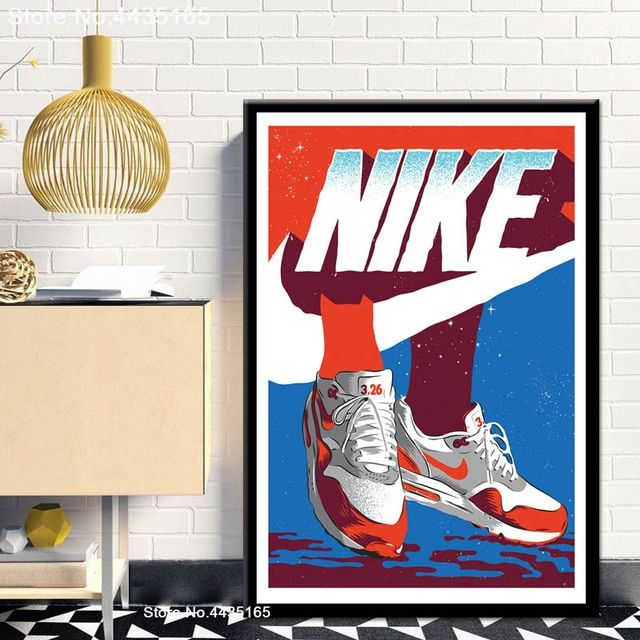 Michael Jordan Shoes Poster Air Max Shoes Sneaker Posters And Prints Canvas Painting Wall Art Picture For Shoe Poster Sneaker Posters Wall Art Canvas Painting