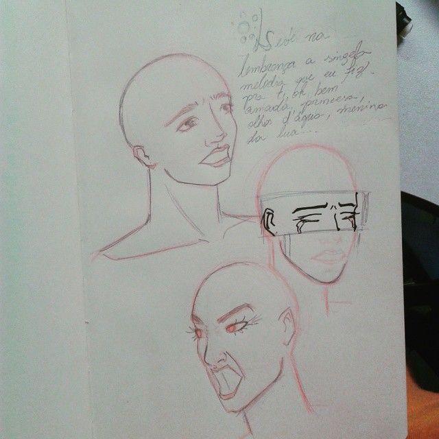 Desenhando na aula pra não dormir (provavelmente esse post será publicado quando eu já estiver em casa, mas beleza) #desenho #sketch #arte #art #mulher #woman #pentel #sketchbook #stabilo (em Instituto de Economia - Unicamp)
