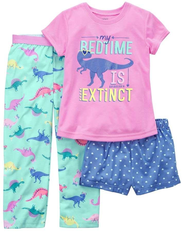 Pc Pajamas Sleepwear Summer Fall Spring New NWT Carter/'s Toddler Girls 3